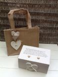 Shabby Personalised Chic Like A Mum To Me.. Mother Step Mum EXTRA LARGE Gift Set